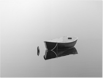 Poster Barca a remi nero