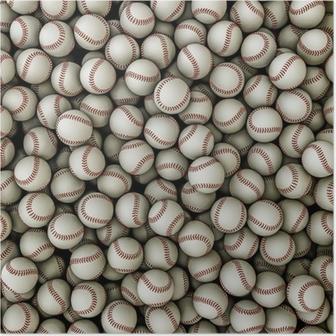 Poster Baseballs Hintergrund