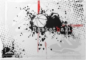 Poster Basketball Hintergrund