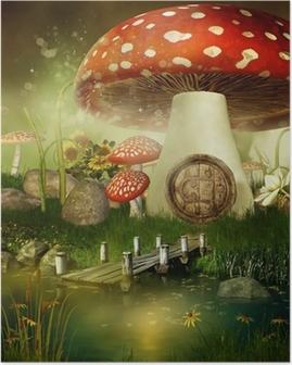 Poster Baśniowy Domek z muchomora