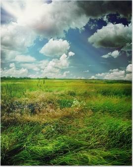 Poster Beautiful Nature Rural Landscape