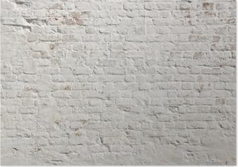 Poster Bianco grunge muro di fondo