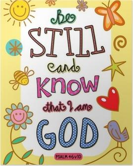 Poster Bibel-Vers-Kunst