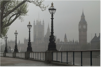 Poster Big Ben und Häuser des Parlaments