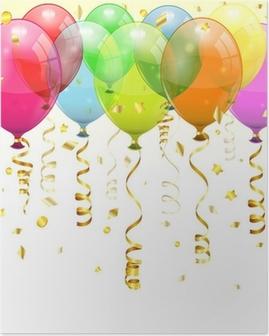 Poster Birthday Balloons