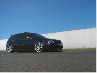 Poster Black car