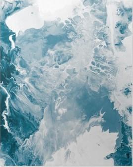 Poster Blau Marmor Textur