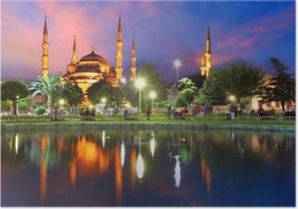 Poster Blaue Moschee in Istanbul, Türkei