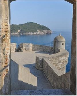 Poster Blick von der Stadtmauer von Dubrovnik
