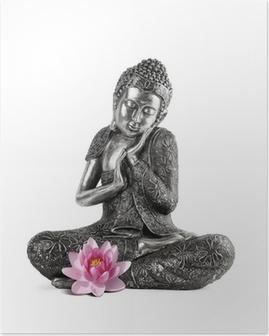 Poster Bouddha a Serenite