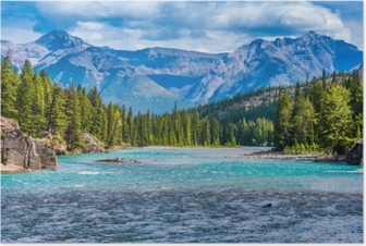 Poster Bow river, banff, alberta, canada