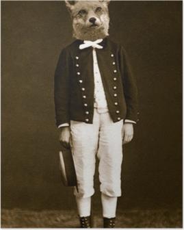 Poster Boy mit einem Fuchs Kopf