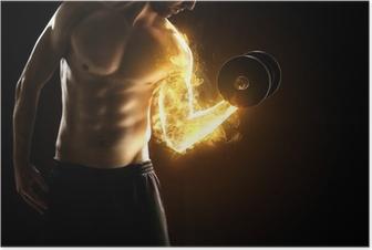Poster Brennende Muskeln