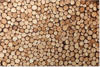 Poster Brennholz Textur