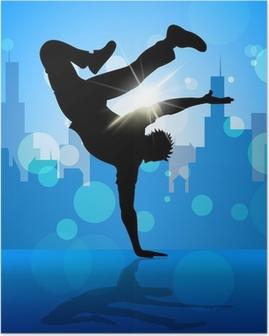 Poster Bruch-Tänzer Zeigt Straßen-Tanzen und Breakdancing