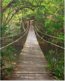 Poster Brücke zum Dschungel, Khao Yai Nationalpark, Thailand