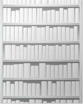 Poster Bücherregal mit weißen Bücher