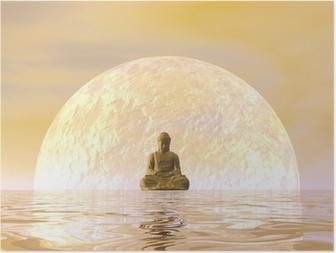 Poster Buddha Meditation - 3D übertragen