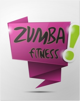 Poster Bulle origami: Zumba Fitness fucsia!