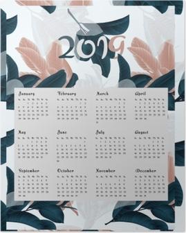 Poster Calendario 2019 - fiori
