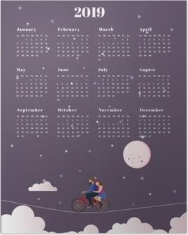 Poster Calendario 2019 - viaggio