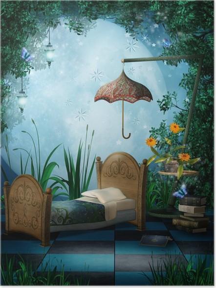 Poster Camera da letto con lanterne Incantato • Pixers® - Viviamo ...