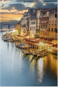 Poster Canal Grande di notte, Venezia
