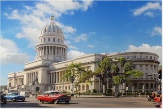 Poster Capitolio edificio a L'Avana Cuba