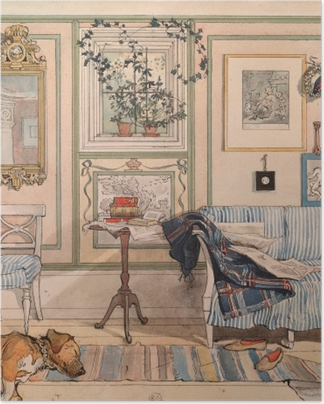 Poster Carl Larsson - Gemütliche Ecke - Reproductions
