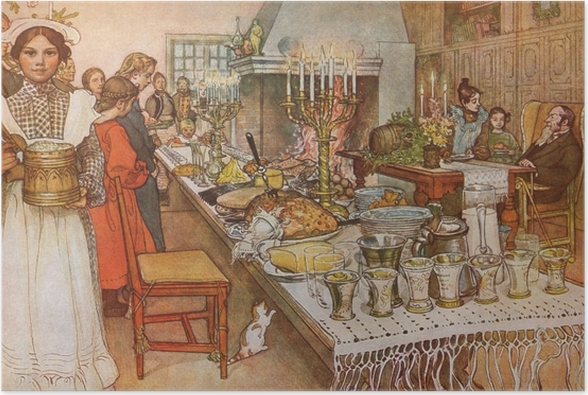 Poster Carl Larsson - Heiligabend - Reproductions