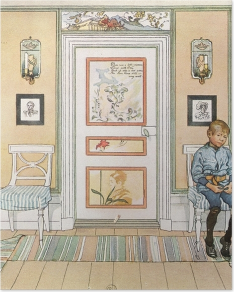 Poster Carl Larsson - In der Ecke - Reproductions