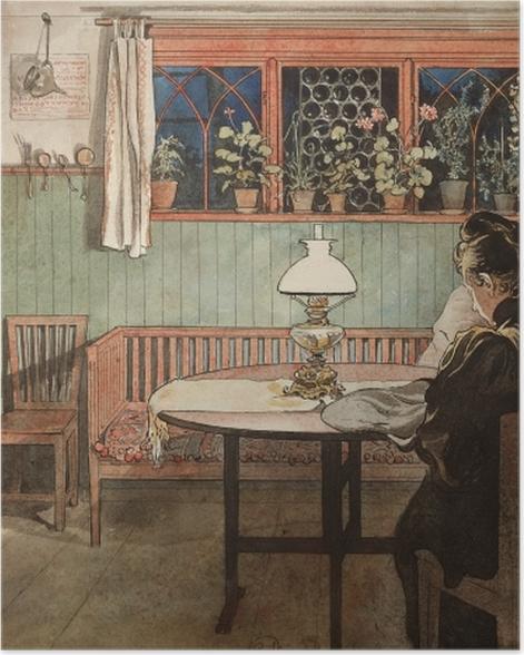 Poster Carl Larsson - Wenn die Kinder schlafen - Reproductions