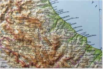 Abruzzo Cartina Politica Dettagliata.Poster Cartina Geografica Pixers Viviamo Per Il Cambiamento