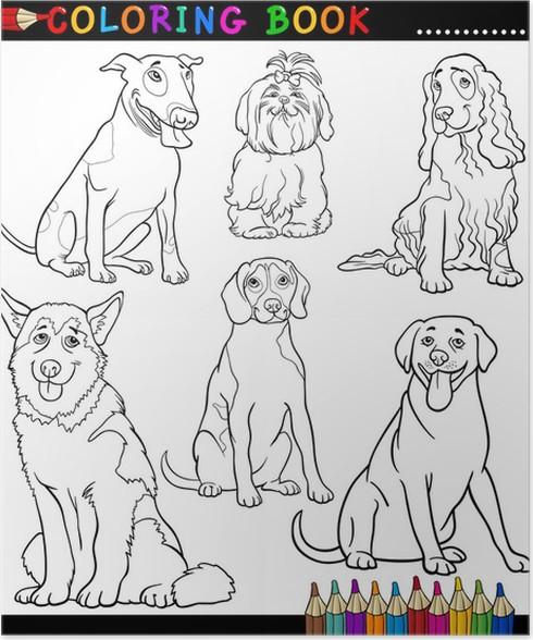 Poster Cartoon Hunde oder Welpen Malvorlagen • Pixers® - Wir leben ...