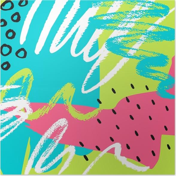 Poster Cartoon-Patch Abzeichen mit Banan -
