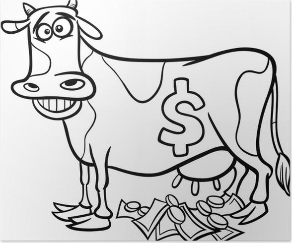 Poster Cash-Cow sagen Malvorlagen • Pixers® - Wir leben, um zu verändern