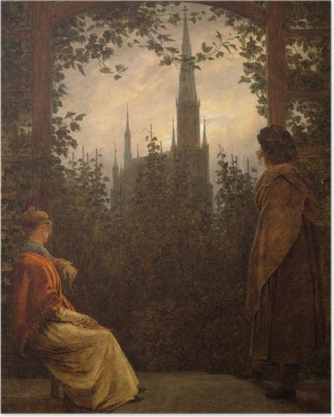 Poster Caspar David Friedrich - Gartenlaube in Greifswald - Reproductions