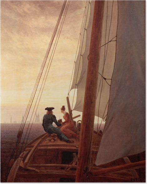 Poster Caspar David Friedrich - Segelschiff - Reproductions