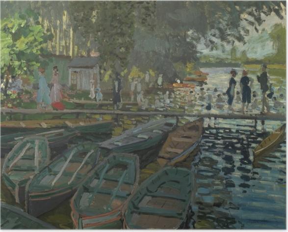 Poster Claude Monet - Badende in La Grenouillère - Reproduktion