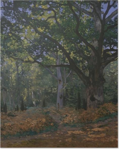 Poster Claude Monet - Bodmer Eiche im Wald von Fontainebleau - Reproduktion