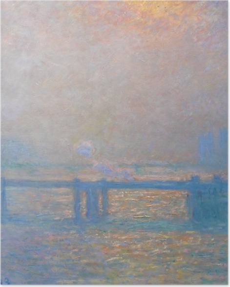 Poster Claude Monet - Charing Cross Bridge - Reproduktion