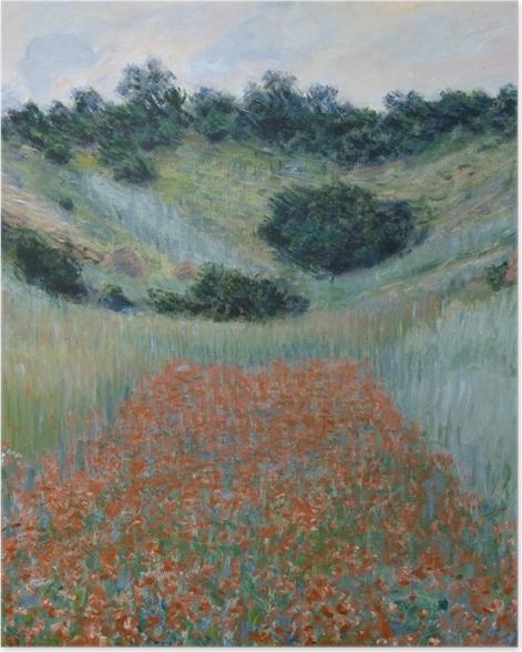 Poster Claude Monet - Das Mohnfeld bei Giverny - Reproduktion