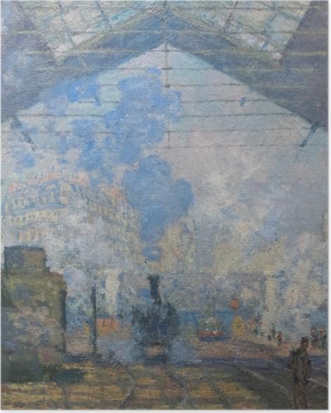 Poster Claude Monet - Der Bahnhof Saint-Lazare - Reproduktion