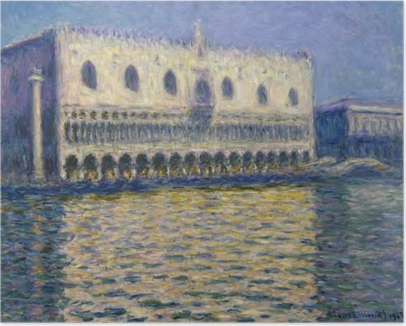 Poster Claude Monet - Der Dogenpalast in Venedig - Reproduktion