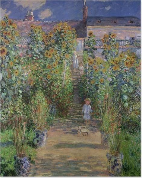 Poster Claude Monet - Der Garten des Künstlers in Vétheuil - Reproduktion