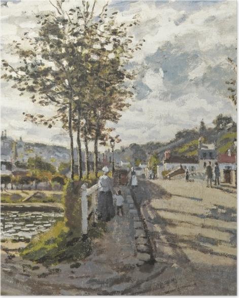 Poster Claude Monet - Die Brücke von Bougival - Reproduktion
