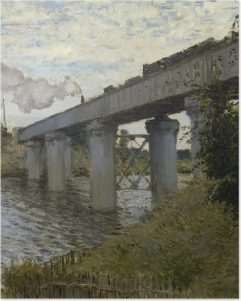 Poster Claude Monet - Die Eisenbahnbrücke von Argenteuil - Reproduktion