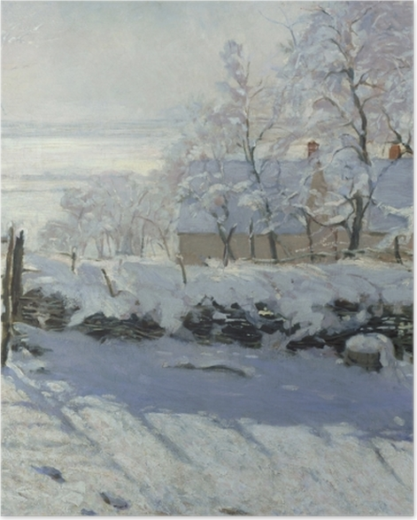 Poster Claude Monet - Die Elster - Reproduktion