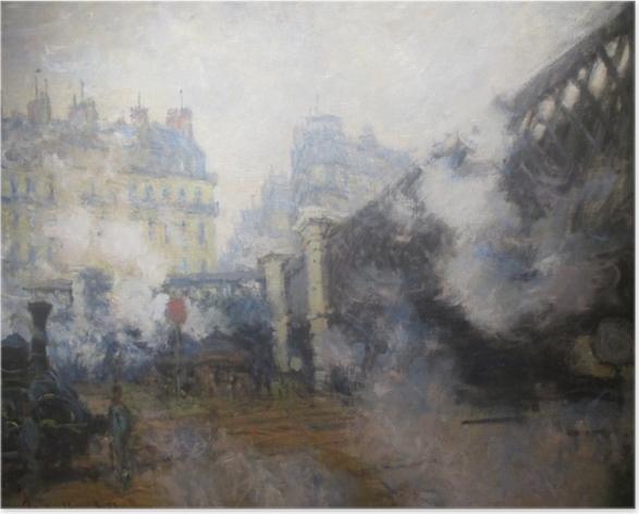 Poster Claude Monet - Die Europabrücke am Bahnhof Saint-Lazare - Reproduktion