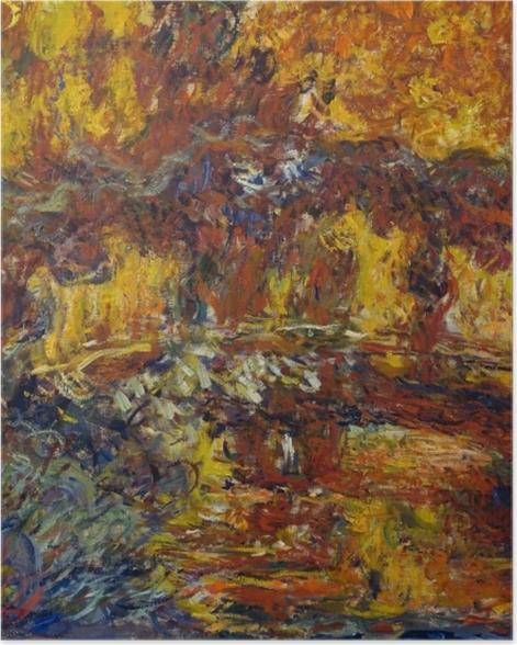 Poster Claude Monet - Die japanische Brücke - Reproduktion